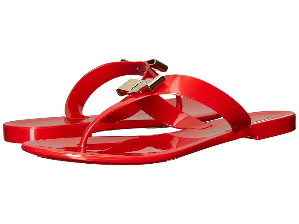 Salvatore Ferragamo - PVC Thong (Lipstick Sandalo PVC) Women's Sandals
