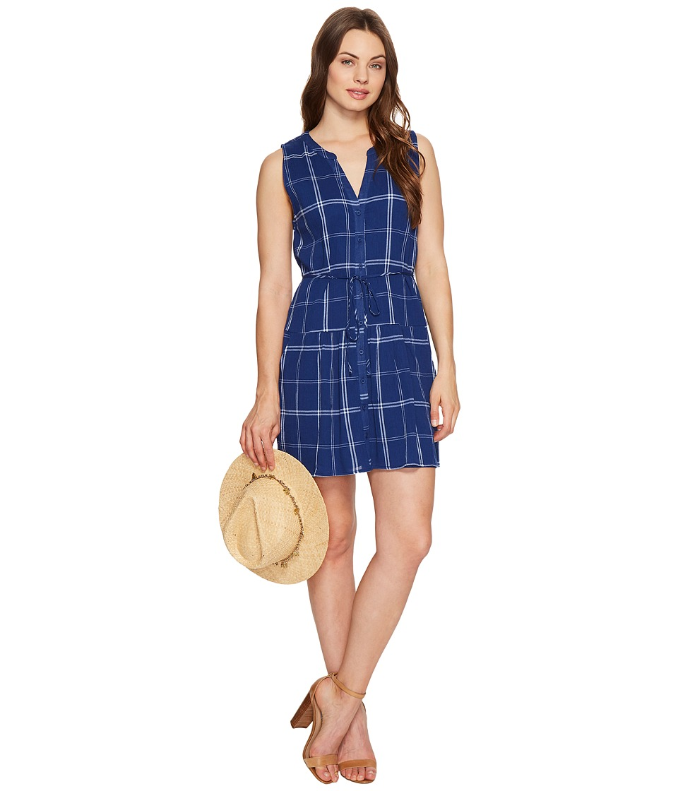 BB Dakota Presley Plaid Dress (Indigo) Women