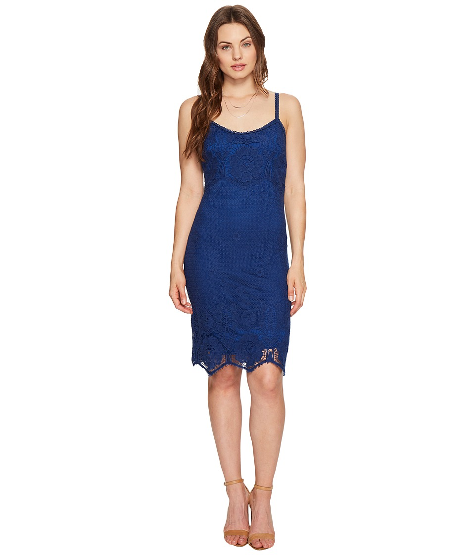 BB Dakota Cassia Scallop Lace Dress (Indigo) Women