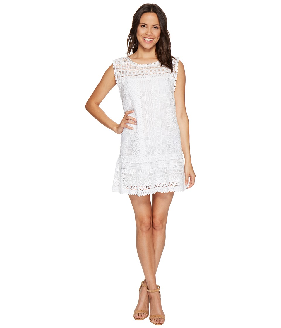 BB Dakota Milo Crochet Dress (Optic White) Women