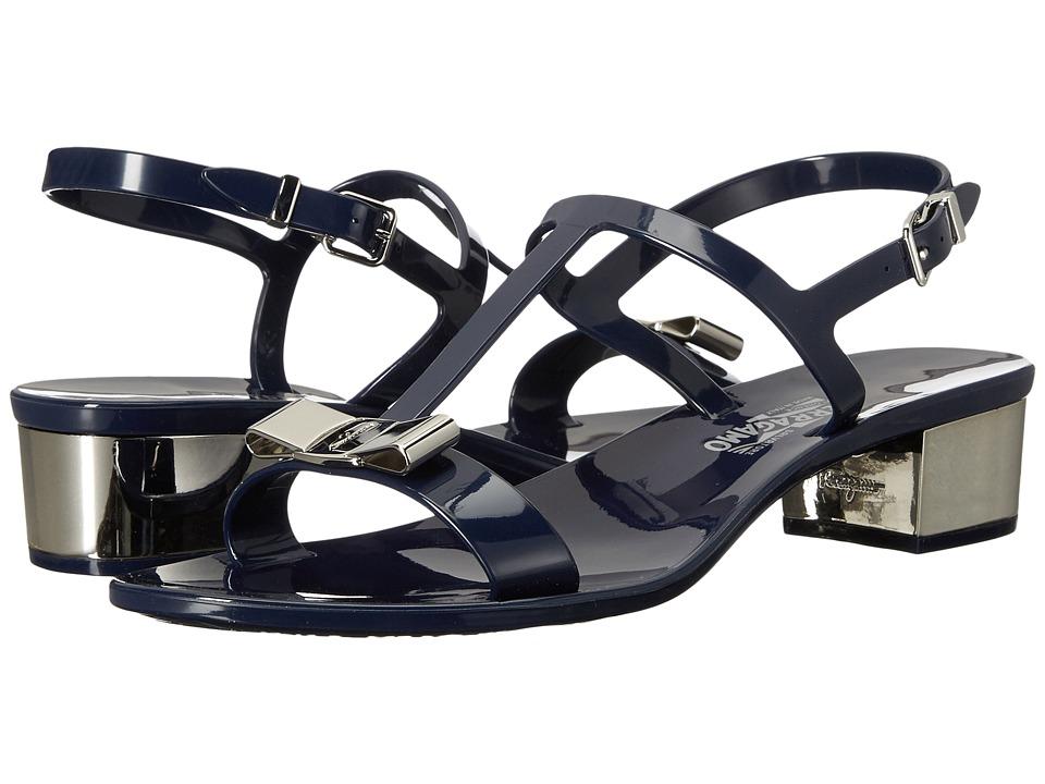 Salvatore Ferragamo PVC Thong with Heel (Mirto Compatto Sandalo PVC) Women