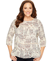 Lucky Brand - Plus Size Raw Edge Top