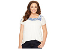 Lucky Brand - Plus Size Embroidered Top
