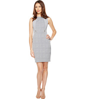 Calvin Klein - Plaid Jacquard Sheath Dress