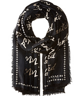 COACH - Wanted Script Woven Shawl