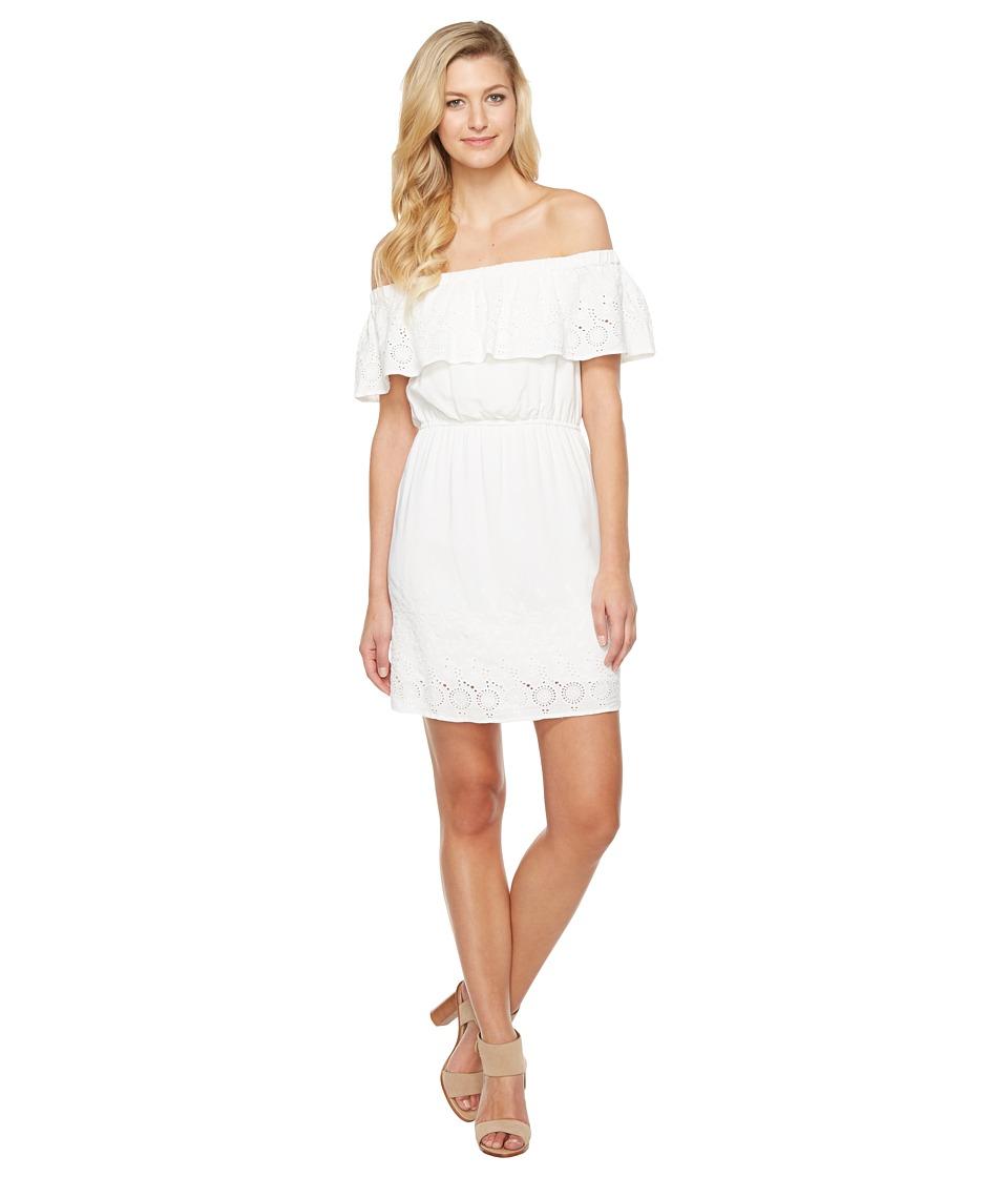 Lucky Brand Amanda Schiffly Dress (Snow White) Women