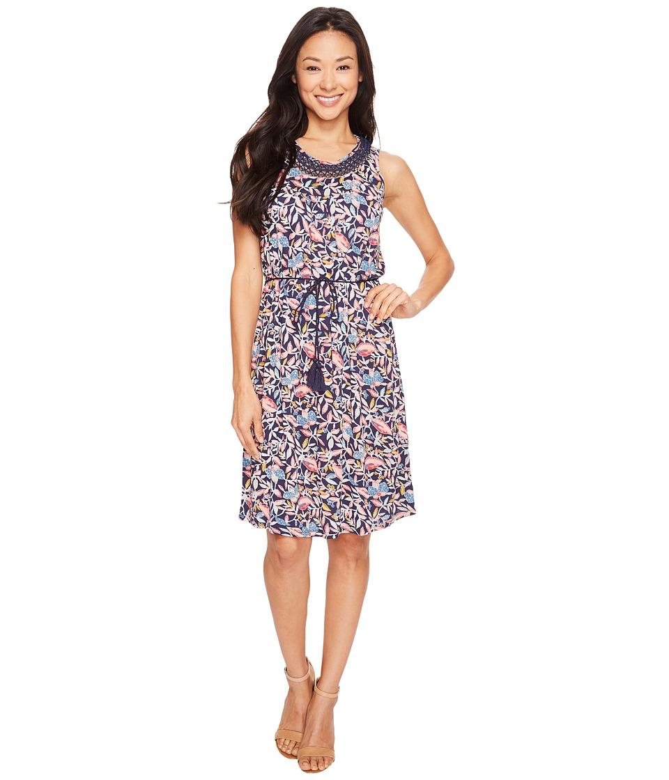 Lucky Brand Inset Lace Dress (Multi) Women