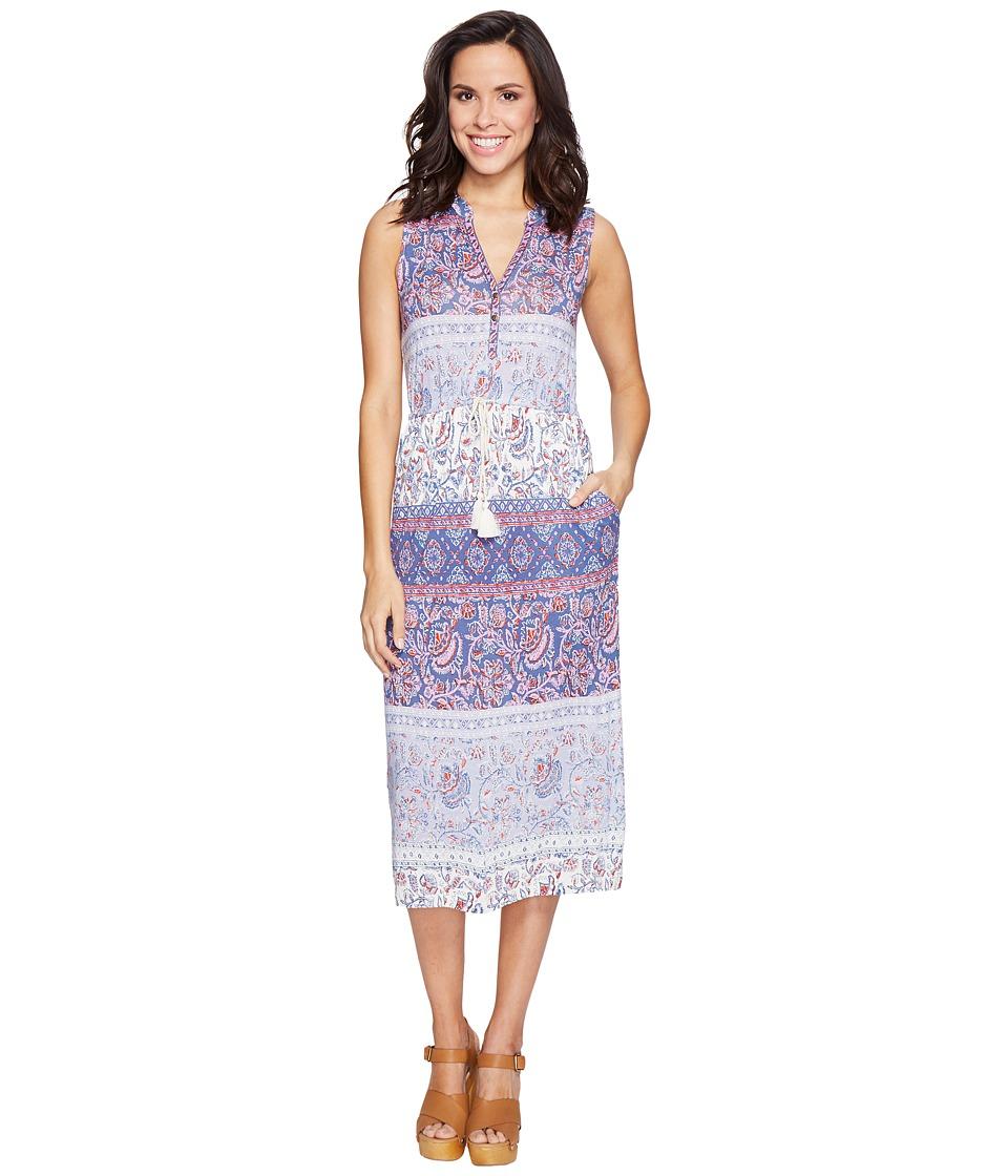 Lucky Brand Floral Mixed Print Dress (Multi) Women