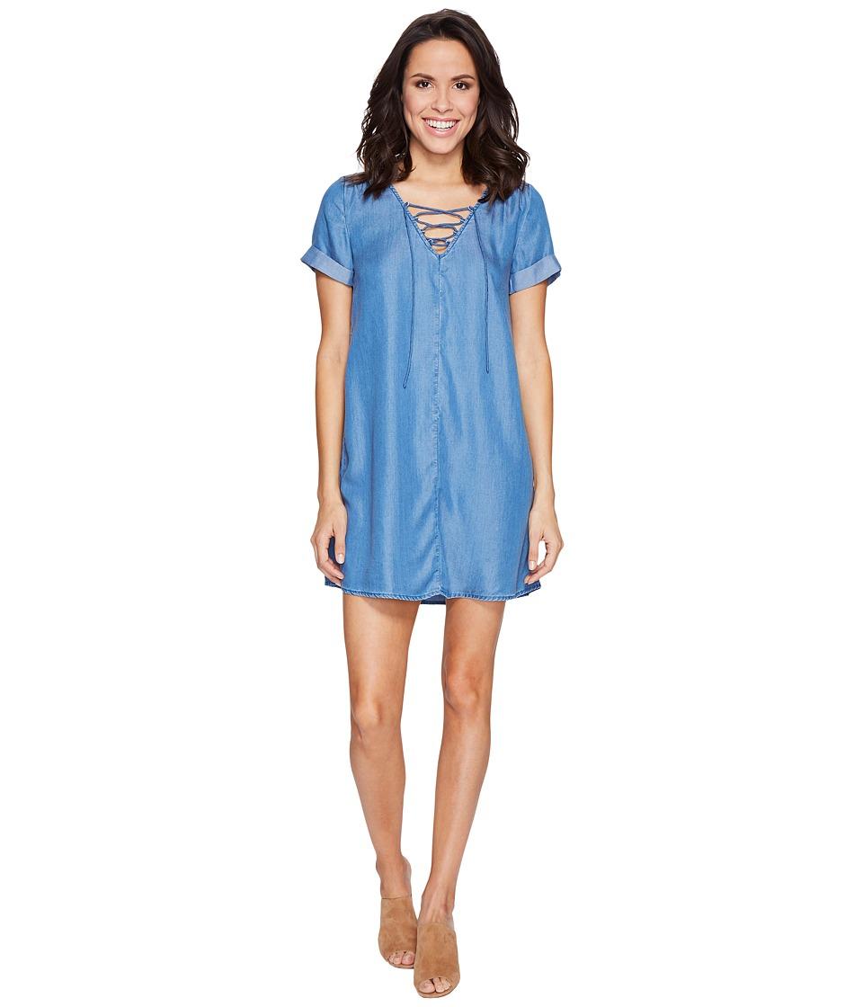 Lucky Brand Tencel Swing Dress (Medium Wash) Women
