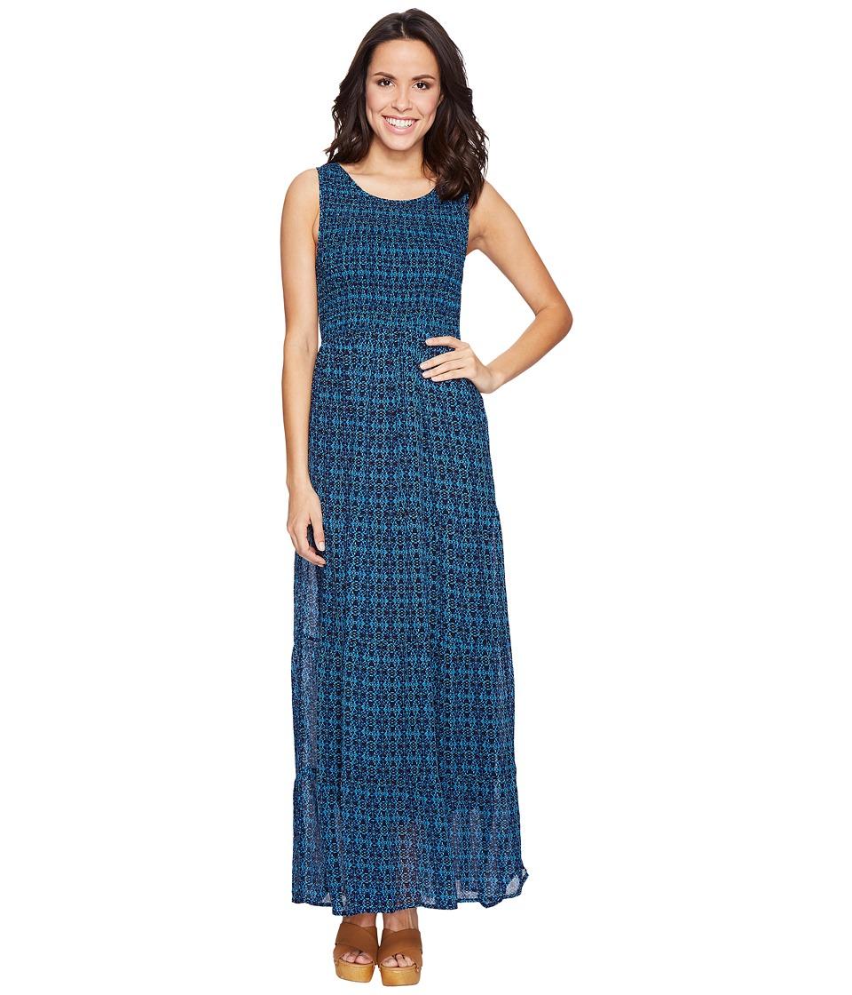 Lucky Brand Smocked Dress (Blue Multi) Women