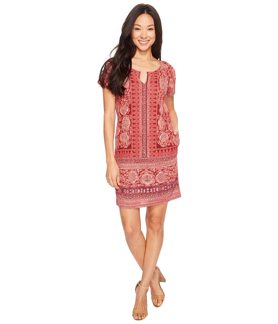Lucky Brand Tee Dress (Burgundy Multi) Women