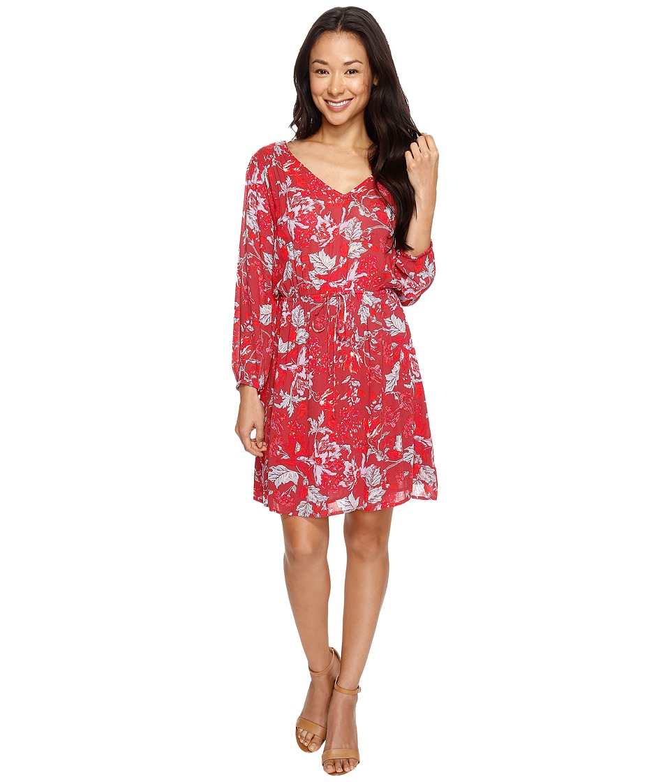 Lucky Brand Anaelisa Dress (Red Multi) Women