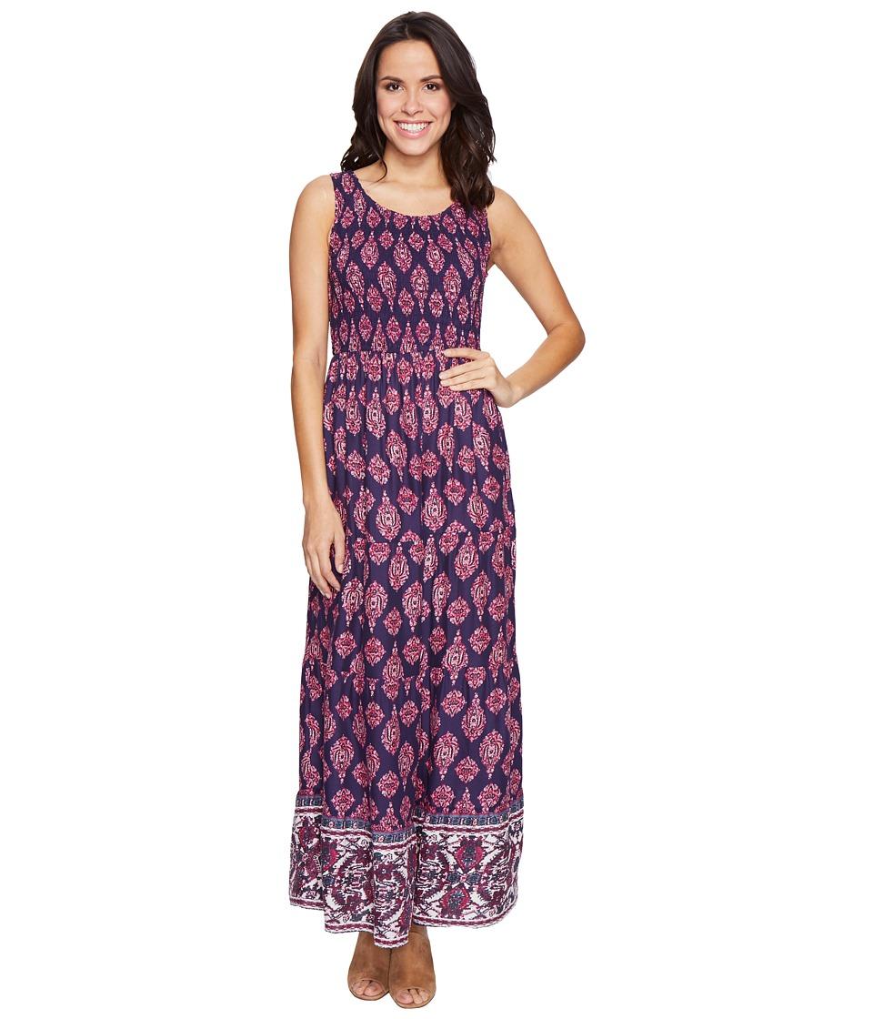 Lucky Brand Smocked Dress (Navy Multi) Women