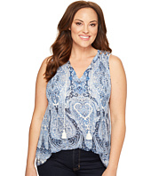 Lucky Brand - Plus Size Paisley Printed Shell
