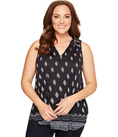Lucky Brand - Plus Size Diamond Printed Shell