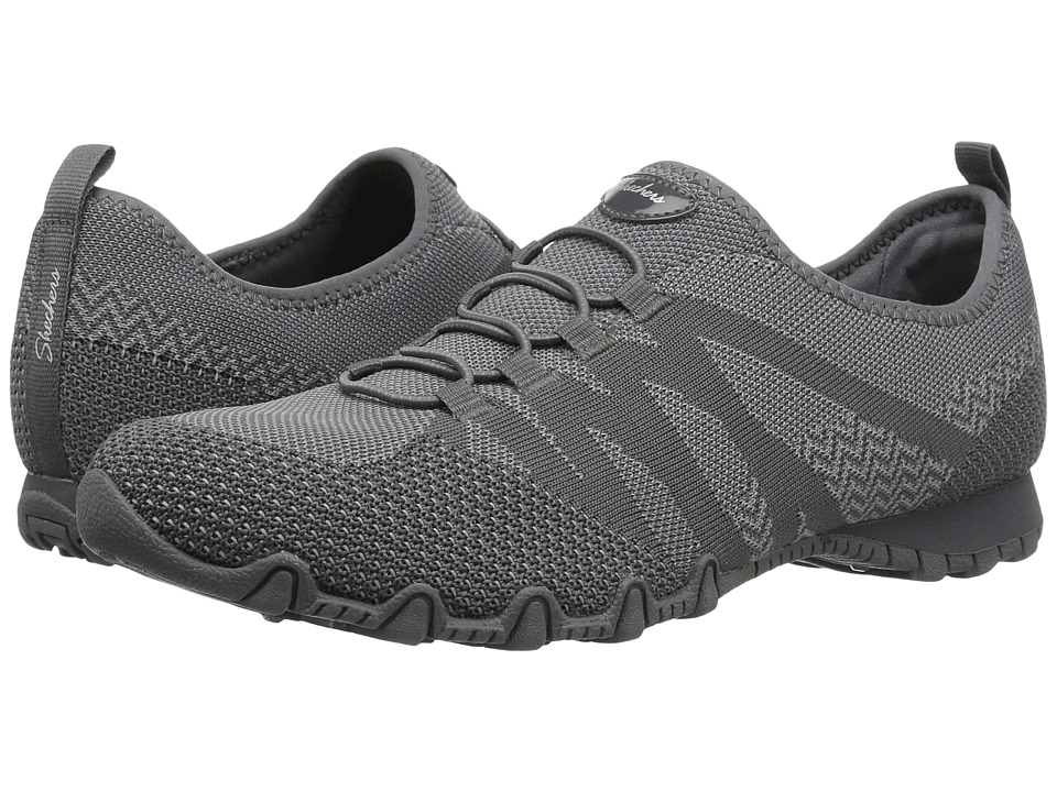 SKECHERS Bikers Engineered Knit Bungee Sneaker (Charcoal) Women