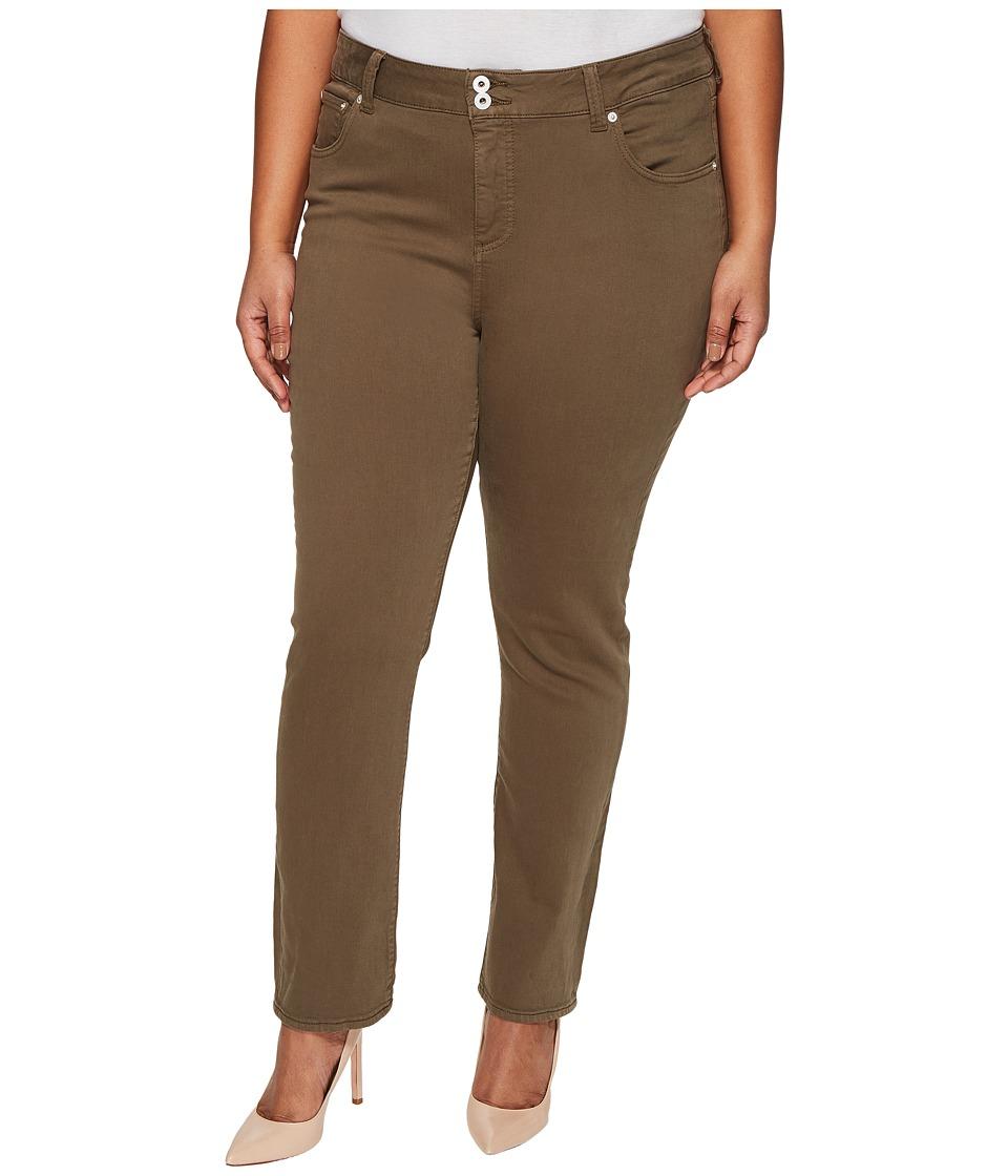 Lucky Brand Plus Size Emma Straight Jeans in Desert Ivy (Desert Ivy) Women