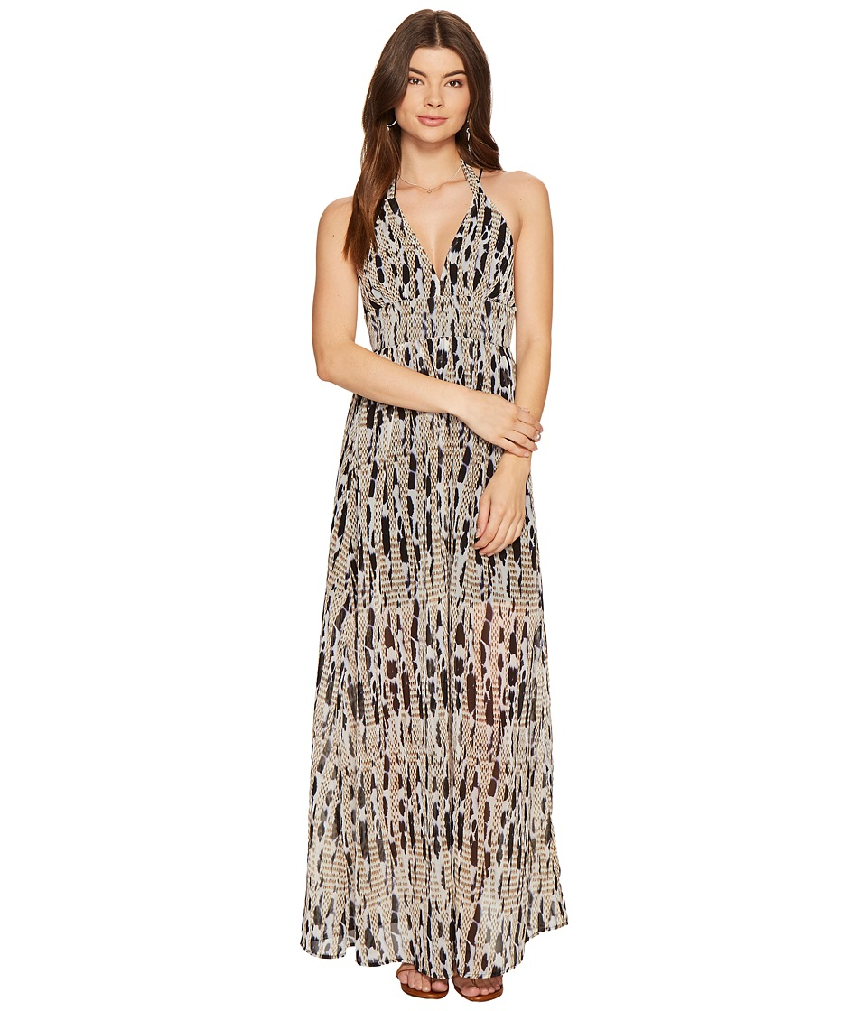 BB Dakota Willow Printed Maxi Dress (Black) Women