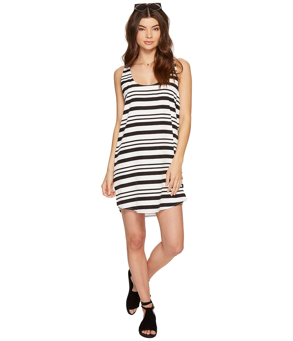 BB Dakota Rowland Striped Shift Dress (Optic White) Women