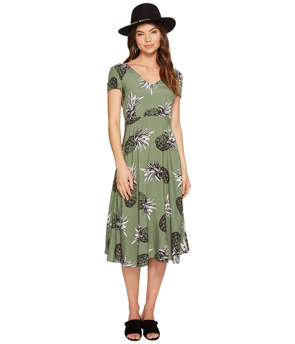BB Dakota Emilienne Printed Midi Dress (Sage) Women