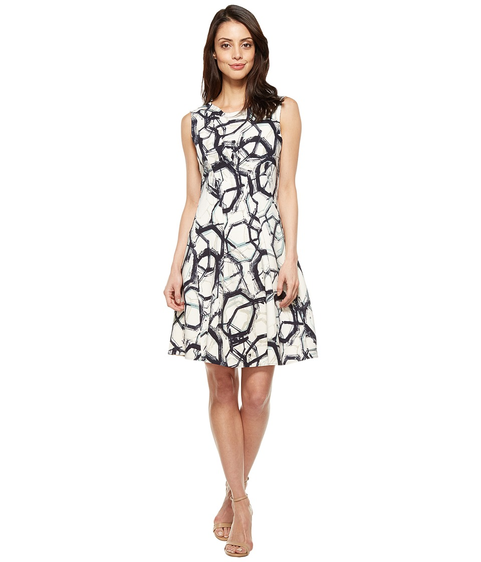 NIC+ZOE Neptune Scuba Dress (Multi) Women