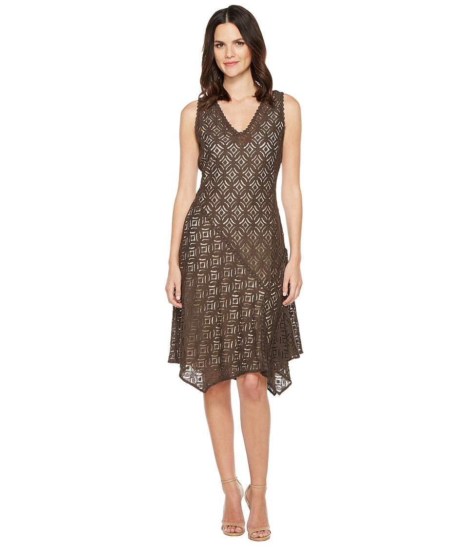 NIC+ZOE First Bloom Dress (Dark Truffle) Women
