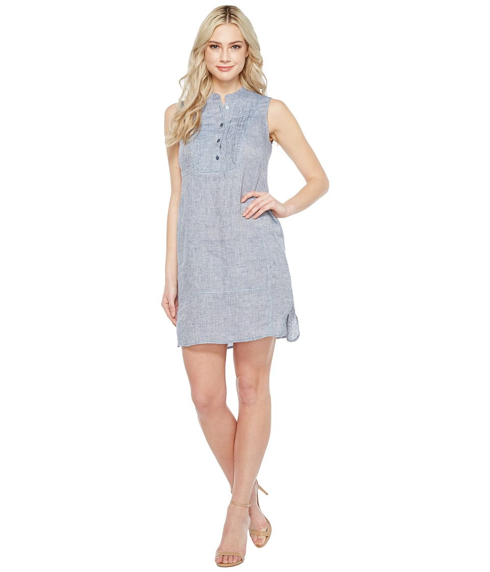 NIC+ZOE Drifty Linen Tunic Dress (Indigo Mix) Women