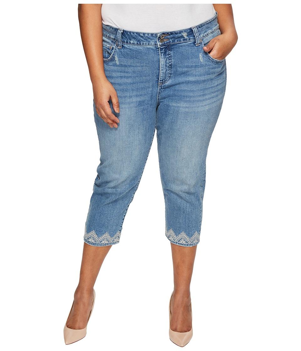 Lucky Brand Plus Size Emma Crop Jeans in Blue Palms (Blue Palms) Women
