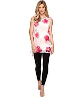 Calvin Klein - Sleeveless Print Chiffon Overlay Blouse