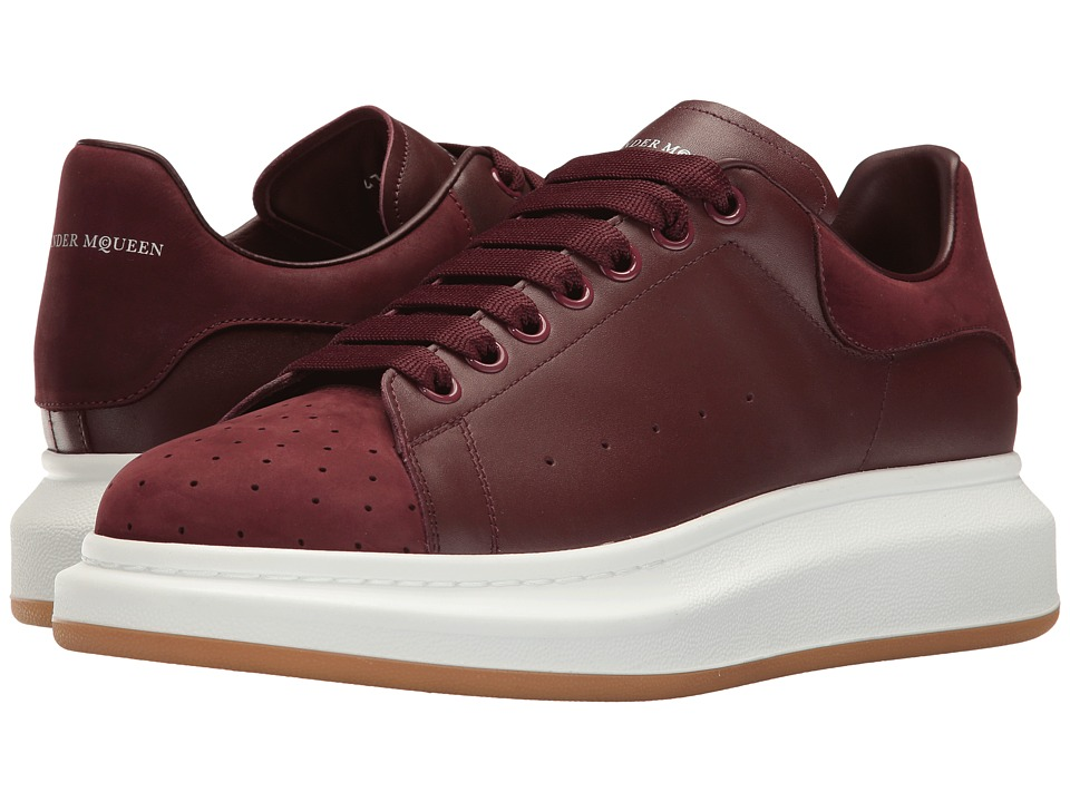 Alexander McQueen - Leather Perforated Nubuck Sneaker
