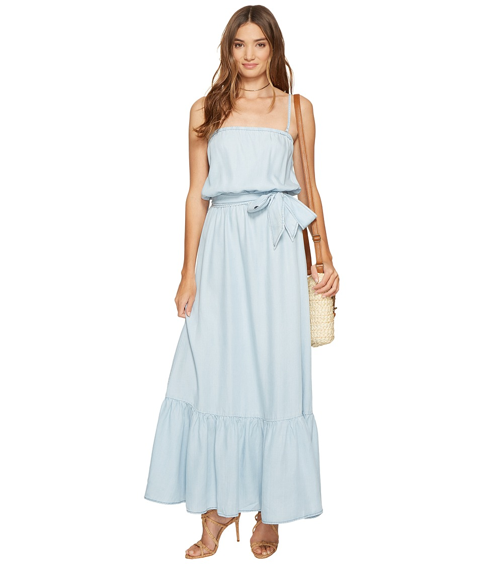 BB Dakota Kate Chambray Maxi Dress (Light Blue) Women