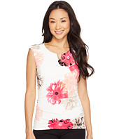 Calvin Klein - Printed Extended Shoulder Top with Hardware