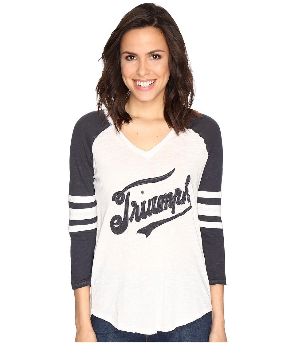 Lucky Brand Triumph Football Tee (Jet Stream) Women