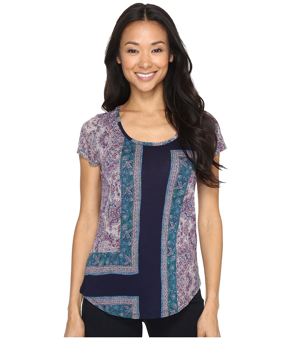 Lucky Brand Mixed Rug Tee (American Navy) Women
