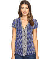 Lucky Brand - Printed Button Front Tee