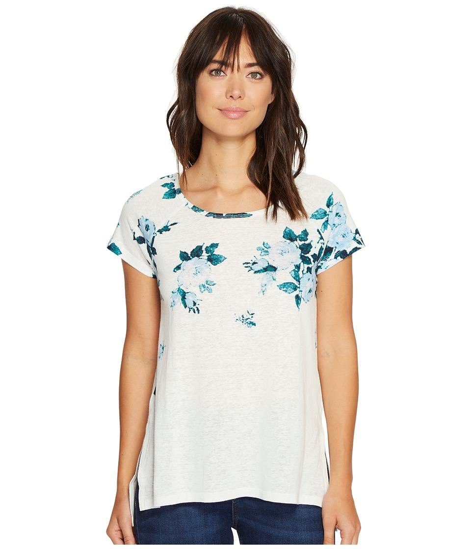 Lucky Brand All Flower Tee (Blue Multi) Women