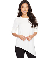 Calvin Klein - Roll Sleeve with Angle Bottom Blouse