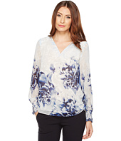 Calvin Klein - Long Sleeve Printed Peasant Blouse