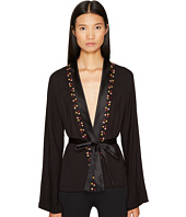 La Perla - Blooming Macrame Wrap Top