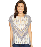 Lucky Brand - Printed Mixed Blouse