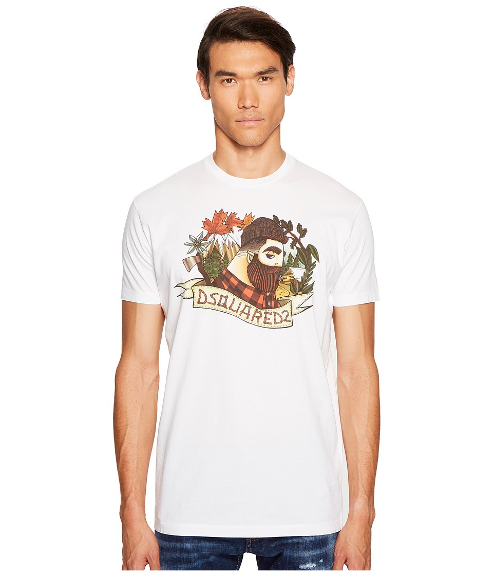 DSQUARED2 Mountain Print T-Shirt (White) Men