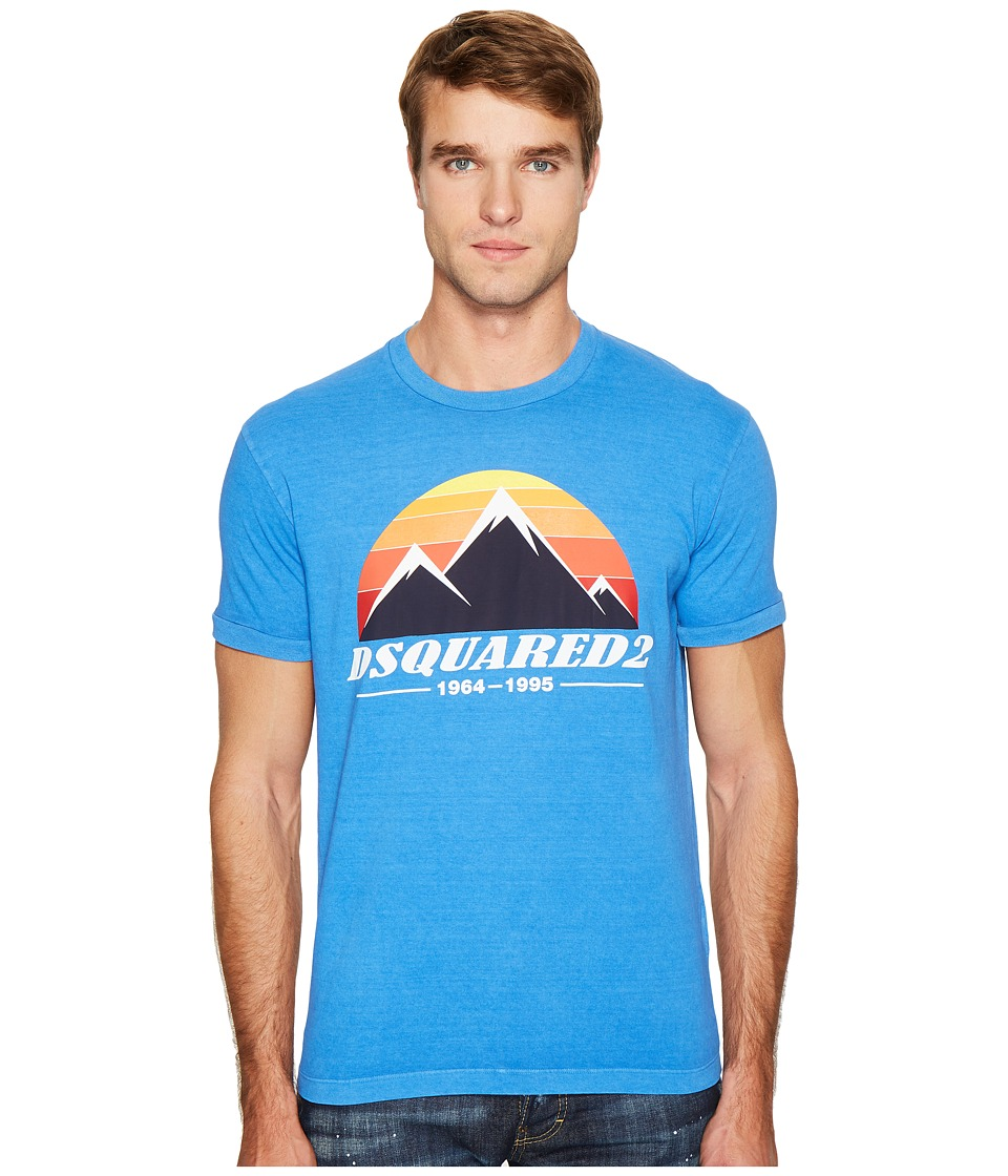 DSQUARED2 Mountain Print T-Shirt (Bluette) Men