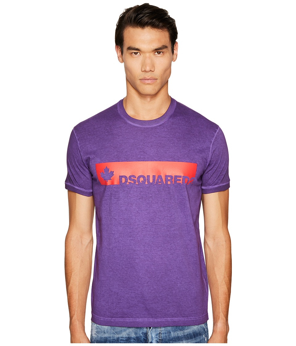 DSQUARED2 Fade Dyed Dan T-Shirt (Purple) Men