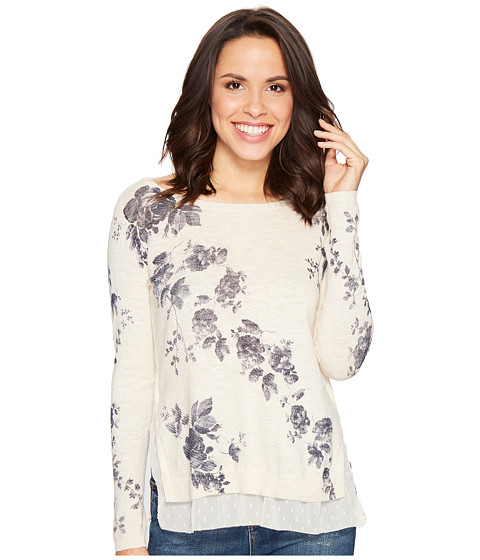 Lucky Brand Placed Floral Pullover Sweater