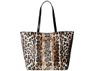 Just Cavalli Mixed Printed Saffiano Shopping Tote