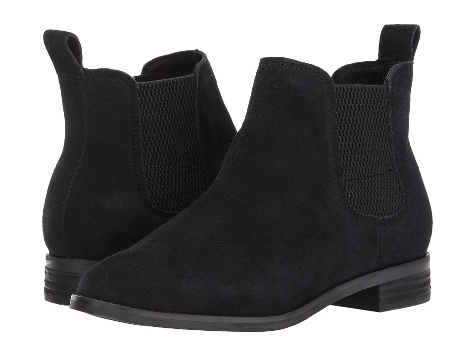 TOMS Ella (Black Suede) Women