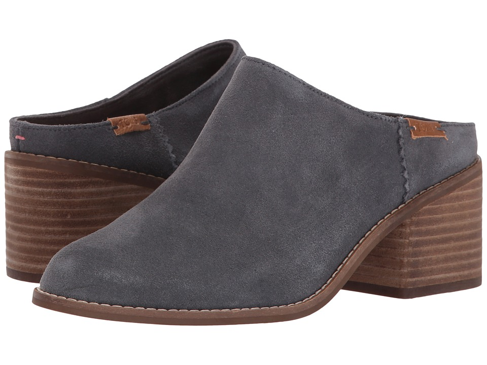 TOMS Leila Mule (Forged Iron Grey Suede) Women