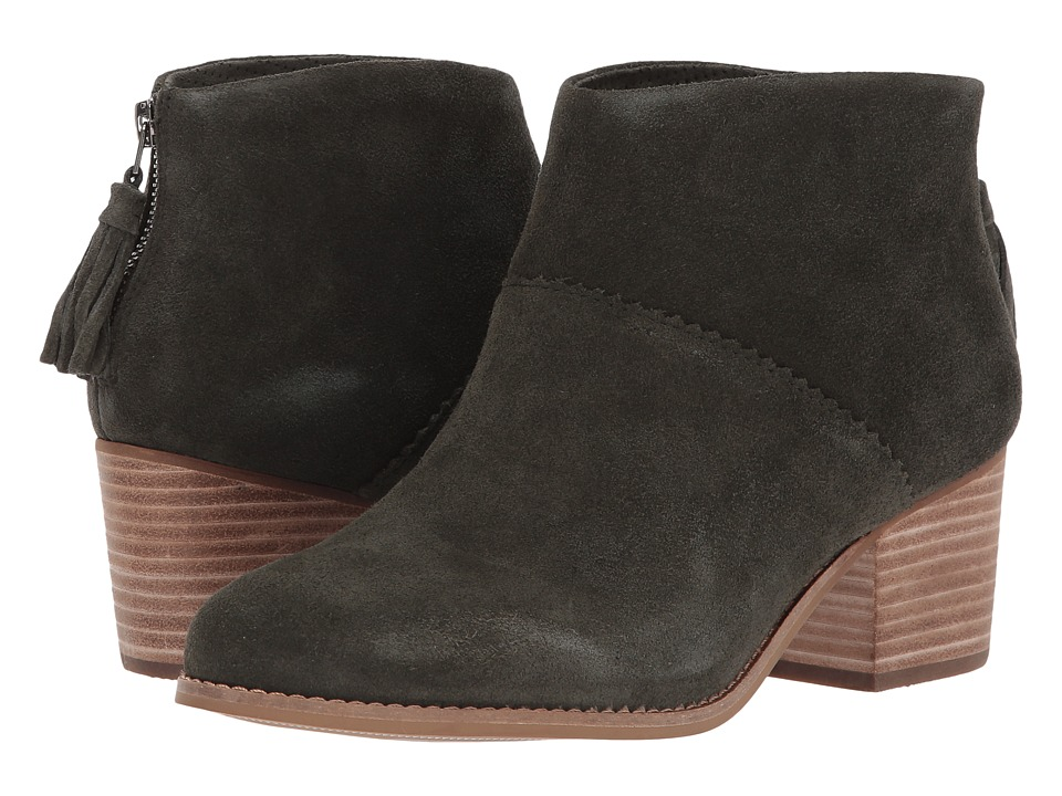 TOMS Leila Bootie (Forest Suede)
