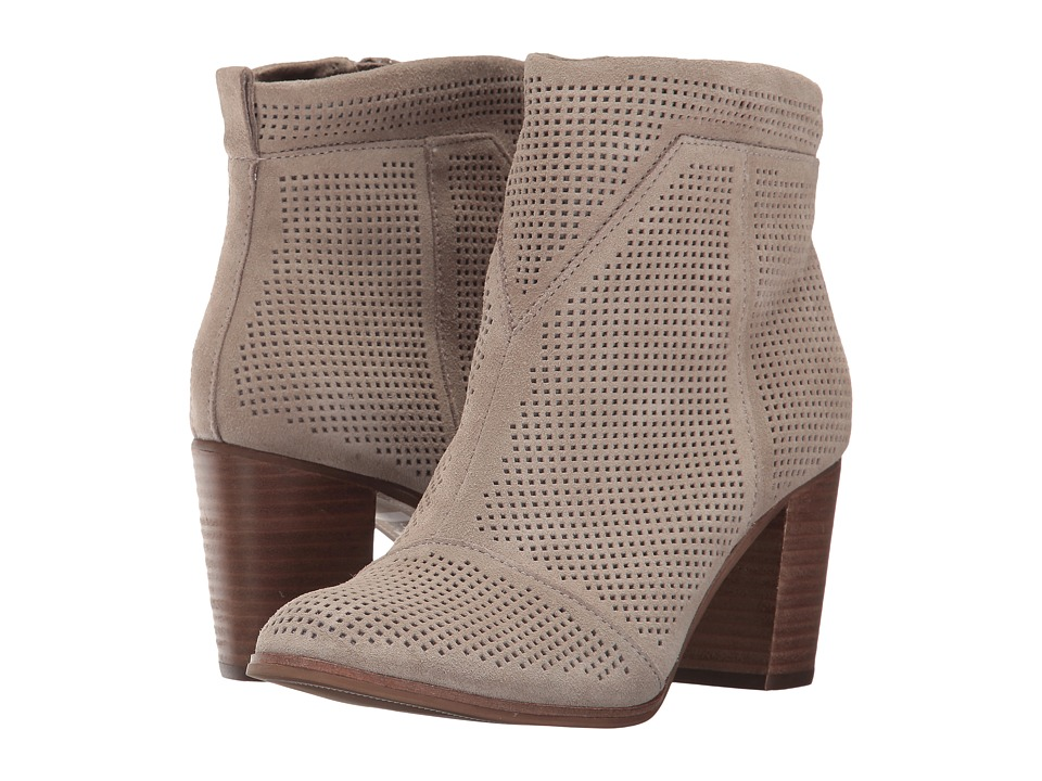 TOMS Lunata Bootie (Desert Taupe Suede Perforated) Women