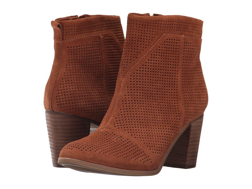 TOMS Lunata Bootie (Cinnamon Suede Perforated) Women